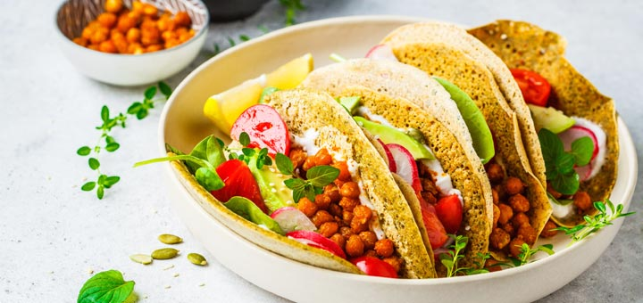 Post-Cleanse Easy Vegan Chickpea Tacos