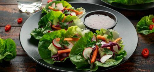 Fresh Raw Vegan Lettuce Wraps