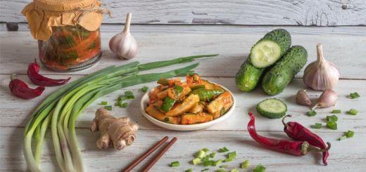 Spicy Kimchi Cucumbers