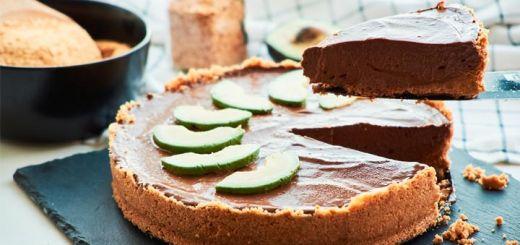 Raw Vegan Chocolate Avocado Pie