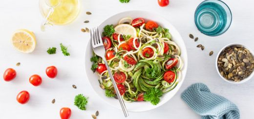 Zoodles With A Mint Parsley Pesto