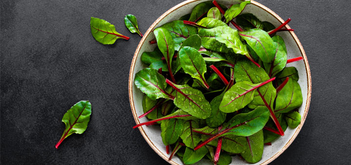 Baby Chard And Herb Salad