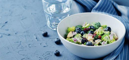 Raw Vegan Broccoli Salad With Blueberries