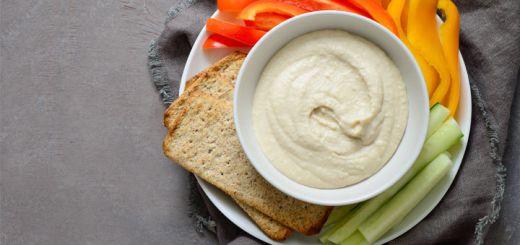 Roasted Garlic White Bean Dip
