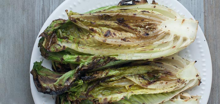 Grilled Romaine Hearts With Balsamic Dressing