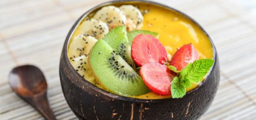 Tropical Mango Banana Smoothie Bowl