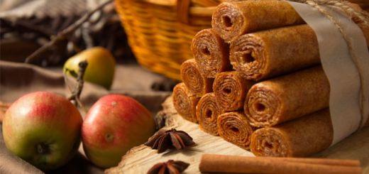 Raw Vegan Apple Cinnamon Fruit Leather